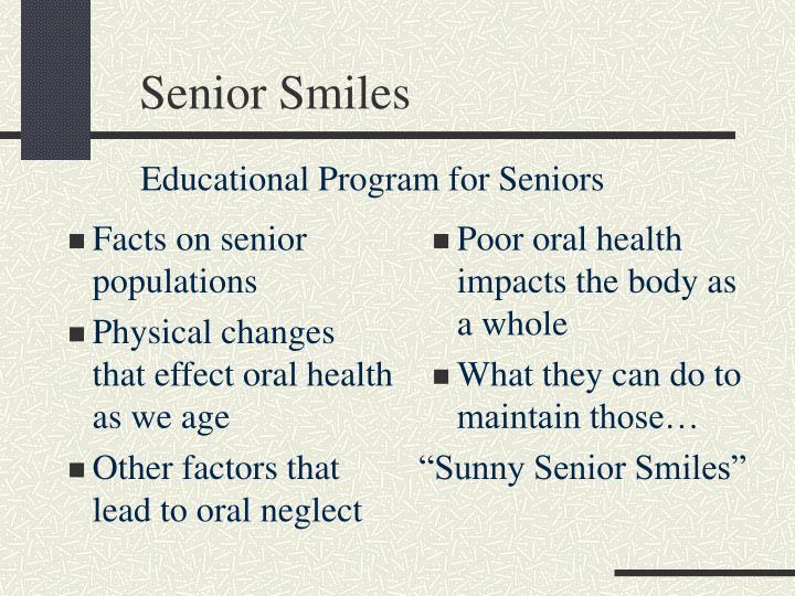 Facts on senior populations