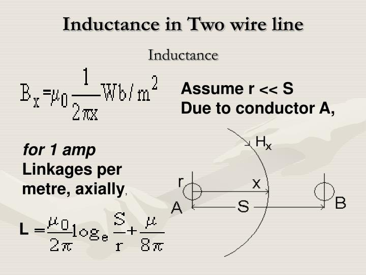 Inductance in Two wire line