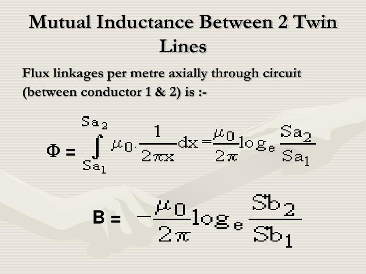 Mutual Inductance Between 2 Twin Lines