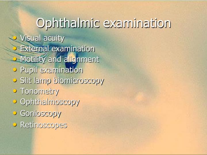 Ophthalmic