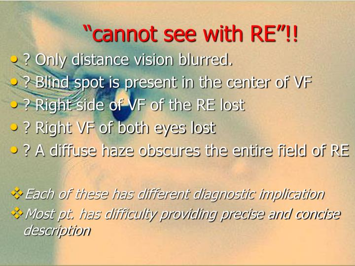 """cannot see with RE""!!"