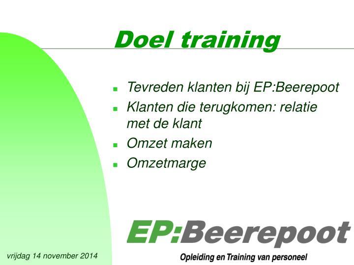 Doel training