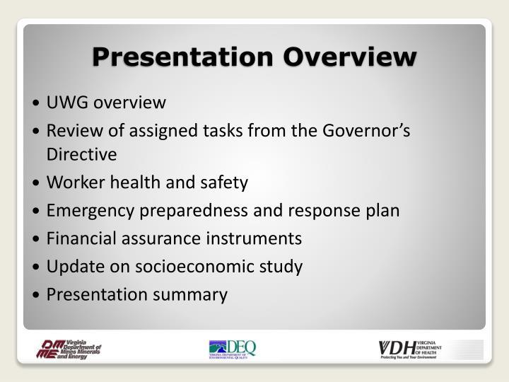 UWG overview