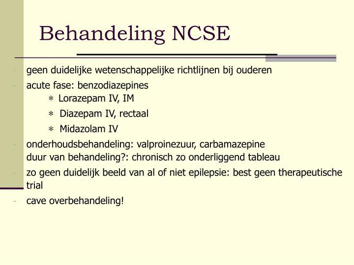 Behandeling NCSE