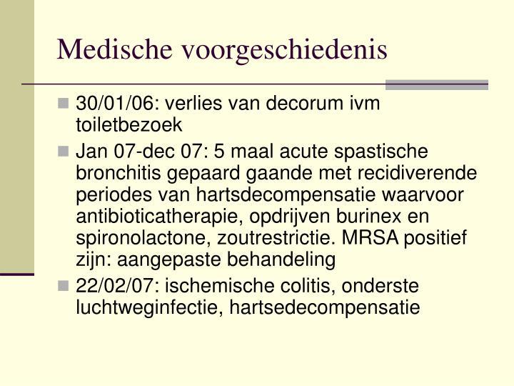Medische voorgeschiedenis