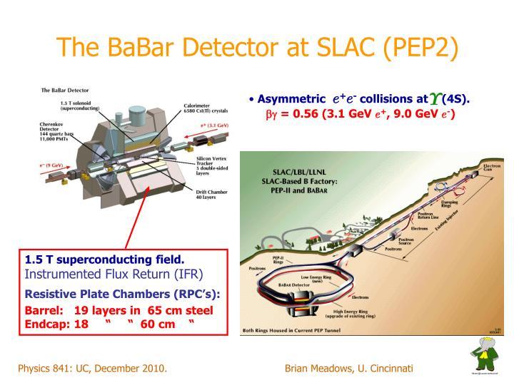 The BaBar Detector at SLAC (PEP2)
