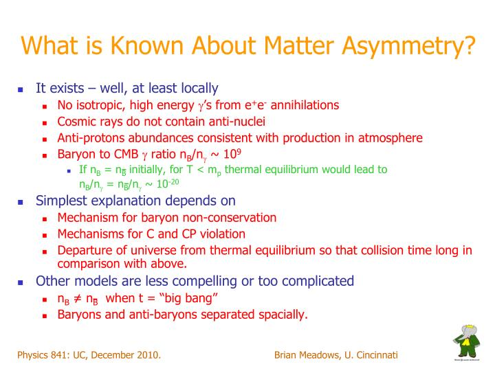 What is Known About Matter Asymmetry?