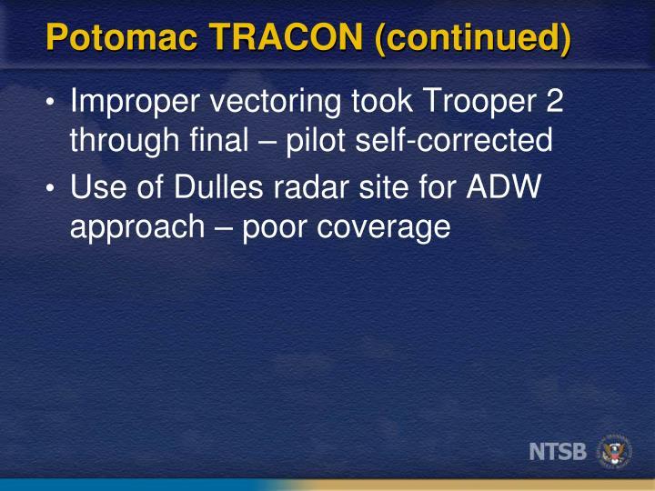 Potomac TRACON (continued)