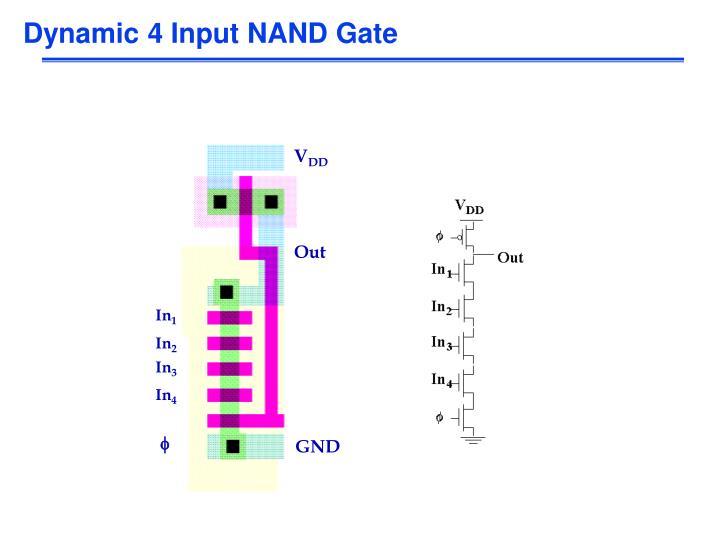 Dynamic 4 Input NAND Gate