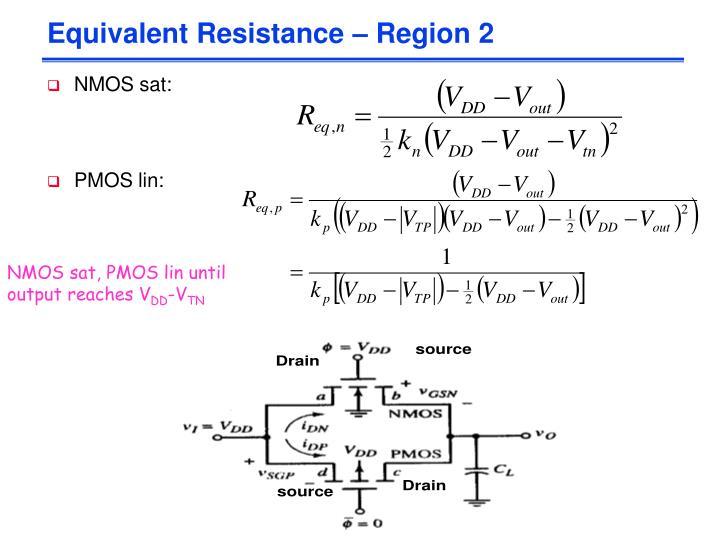 Equivalent Resistance – Region 2