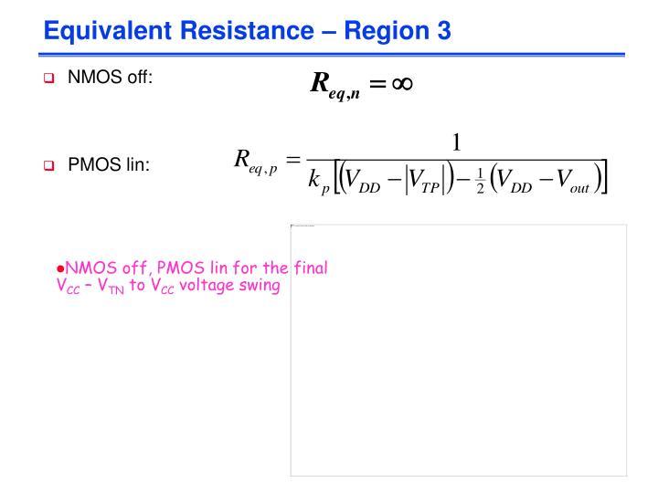 Equivalent Resistance – Region 3