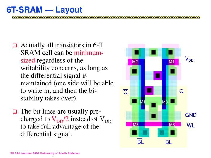 6T-SRAM — Layout