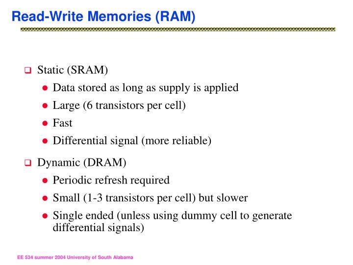Read-Write Memories (RAM)