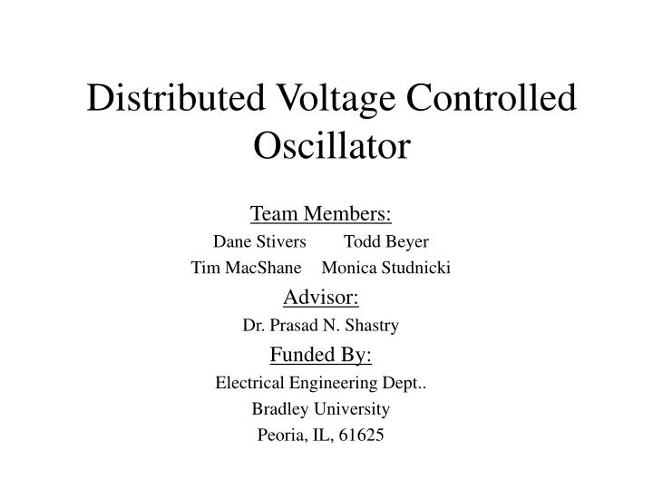 Distributed voltage controlled oscillator