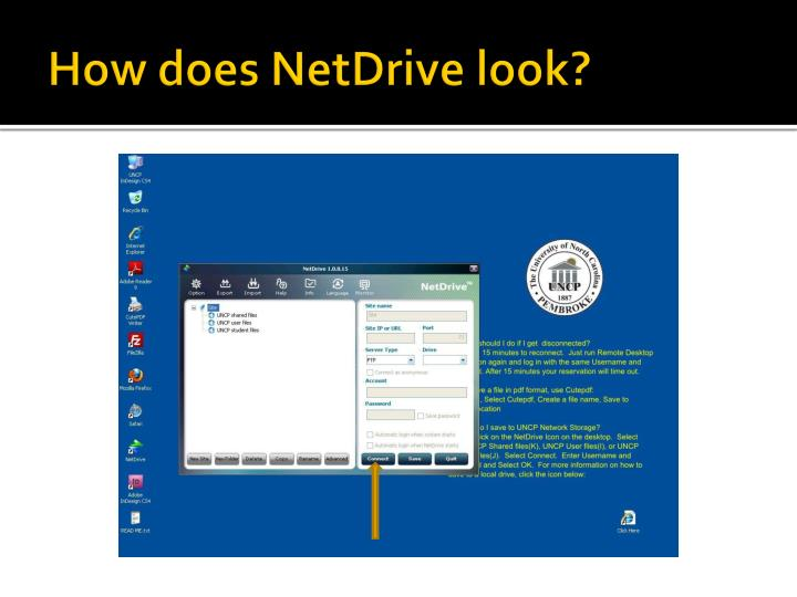 How does NetDrive look?