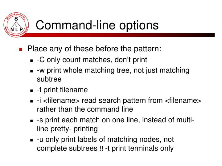 Command-line options