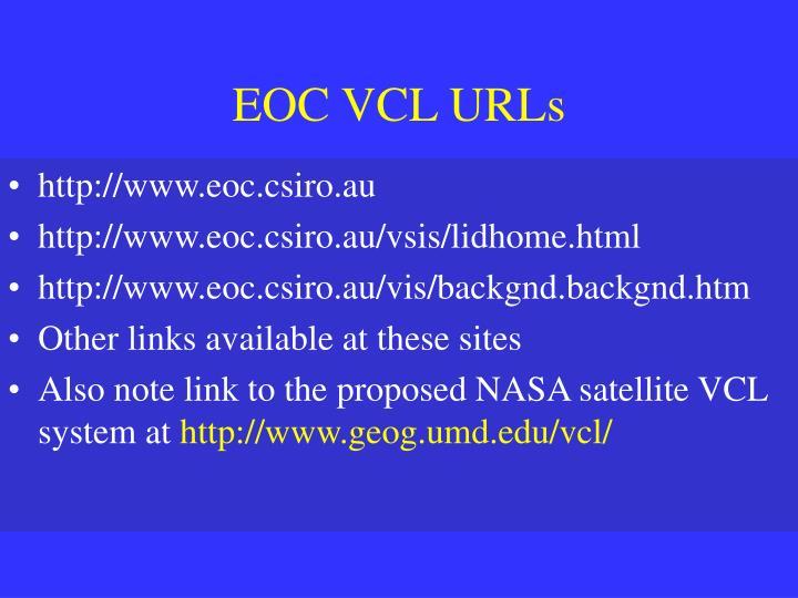 EOC VCL URLs