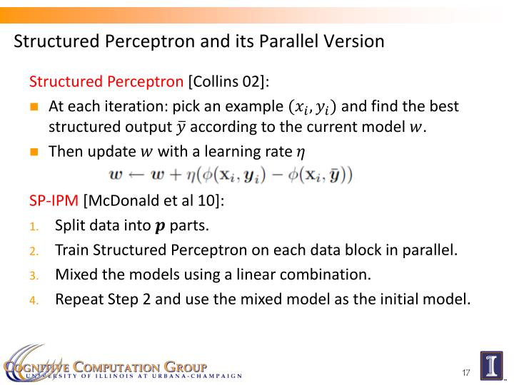 Structured Perceptron and its Parallel Version