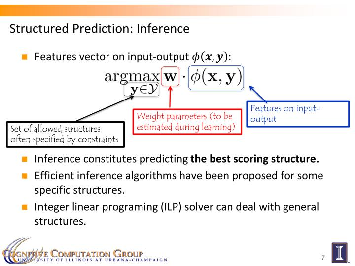 Structured Prediction: Inference