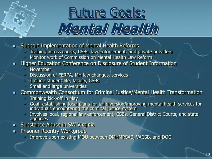 Future Goals: