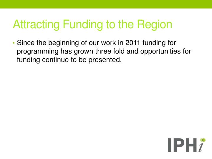 Attracting Funding to the Region