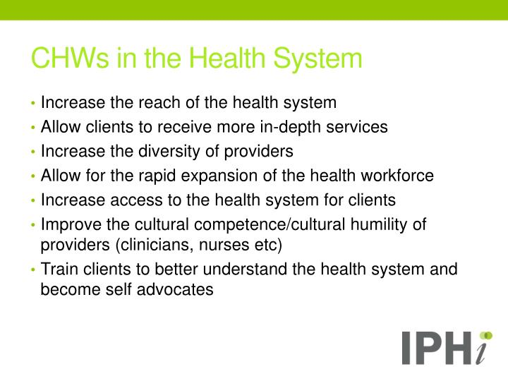 CHWs in the Health System