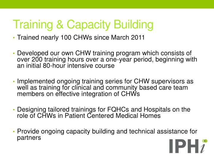 Training & Capacity Building