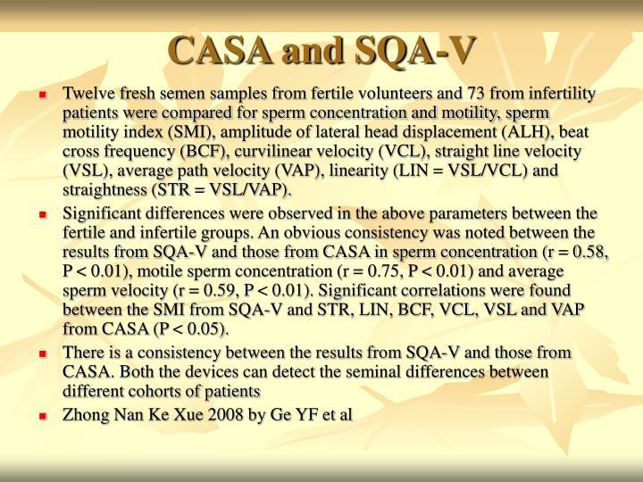 CASA and SQA-V