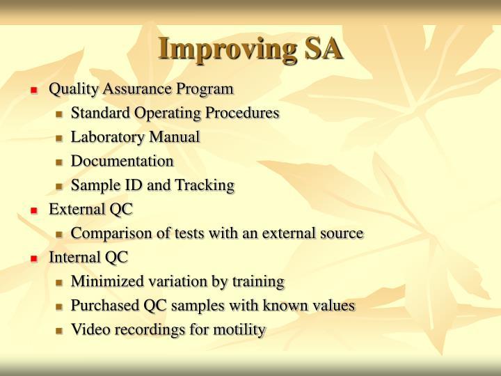 Improving SA