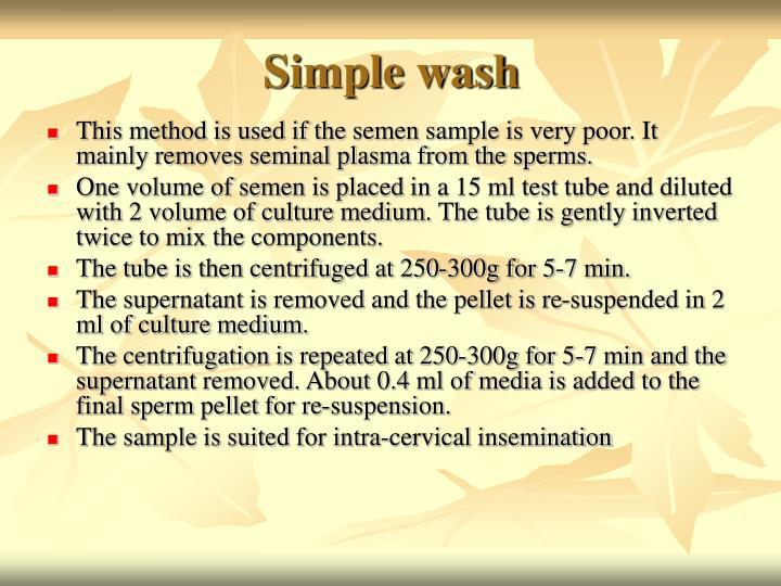 Simple wash