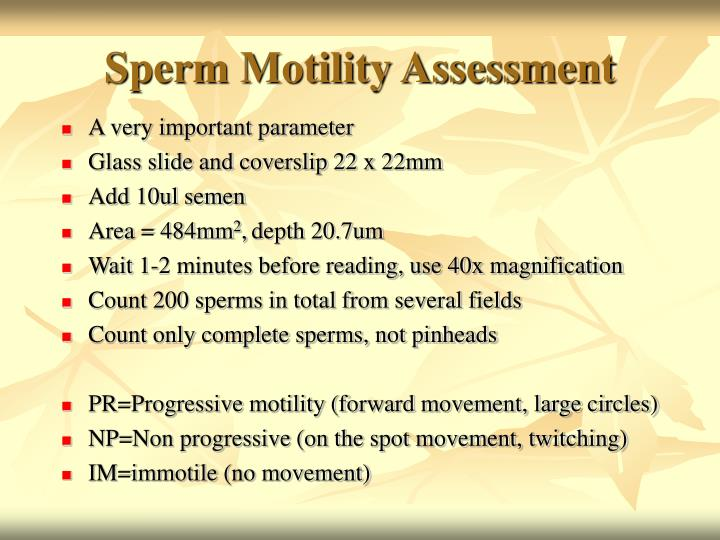 Sperm Motility Assessment