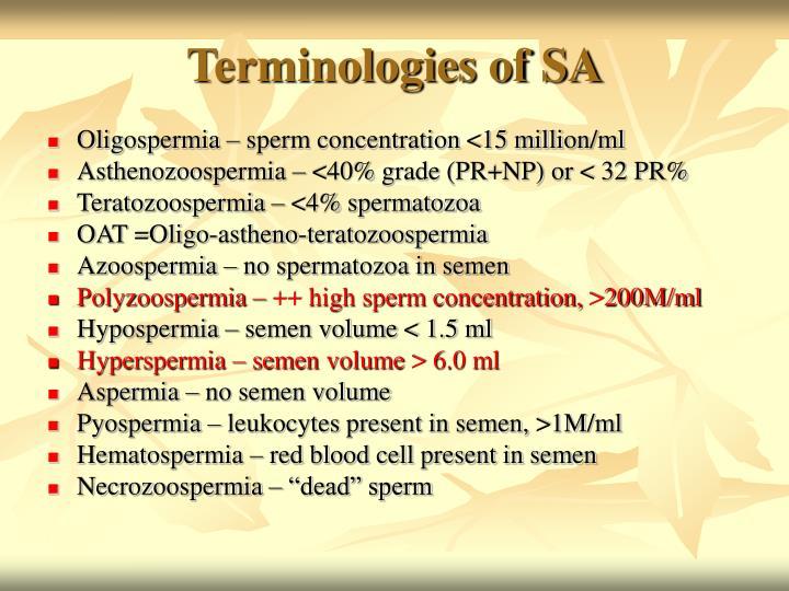 Terminologies of SA