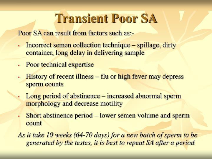 Transient Poor SA