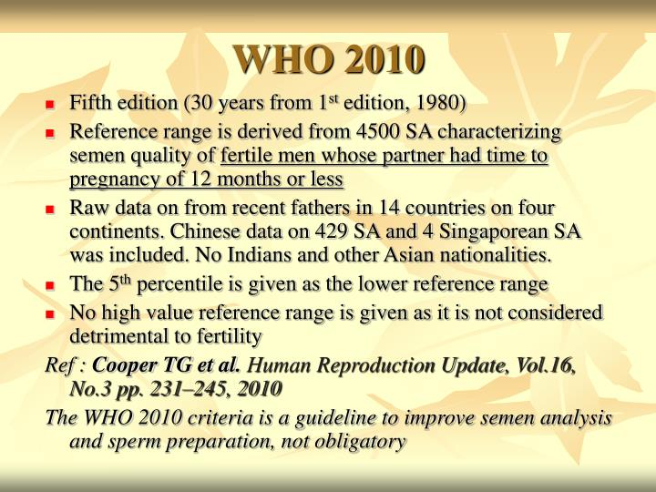 WHO 2010