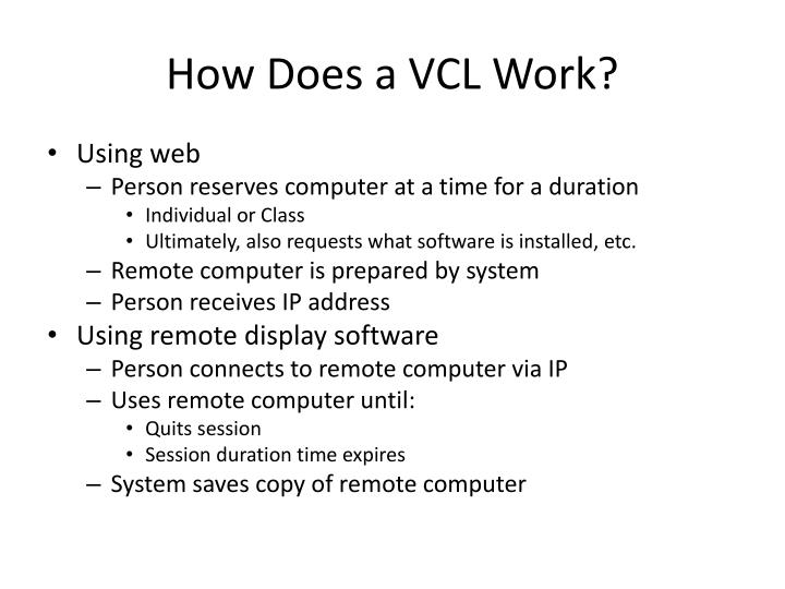 How Does a VCL Work?
