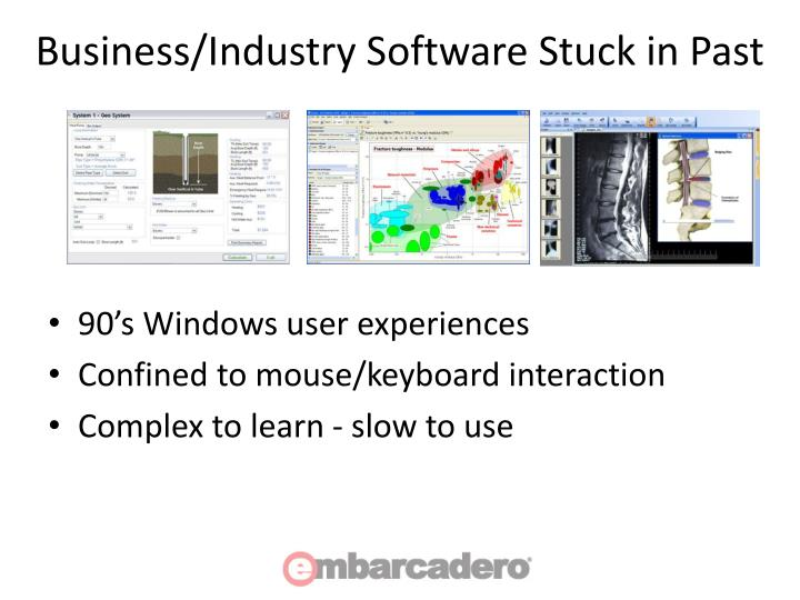 Business/Industry Software Stuck in Past
