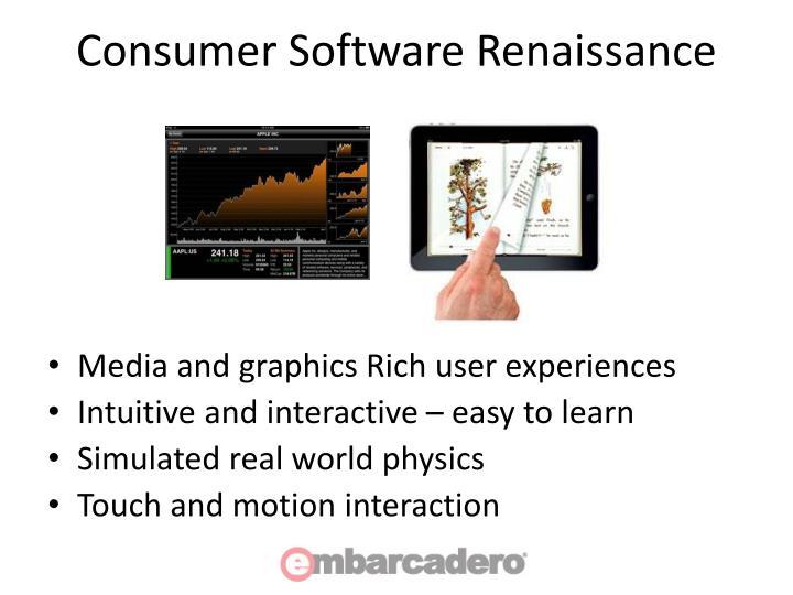 Consumer Software Renaissance