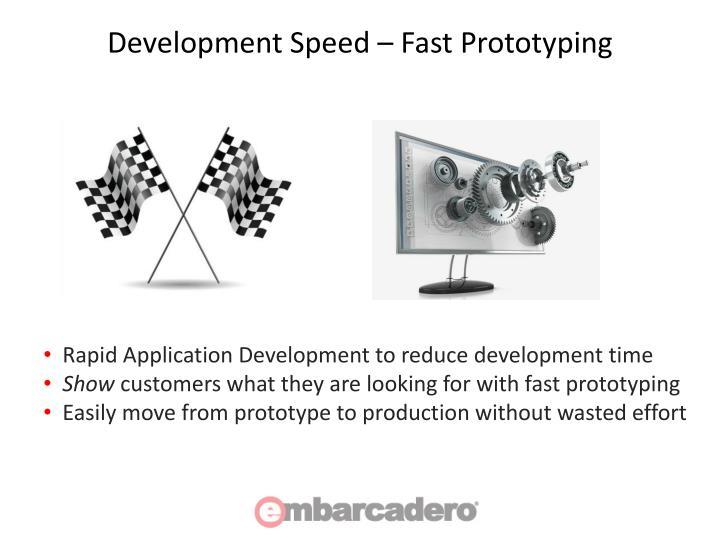 Development Speed – Fast