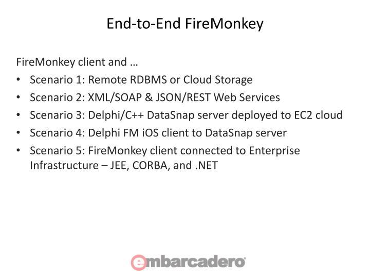 End-to-End FireMonkey
