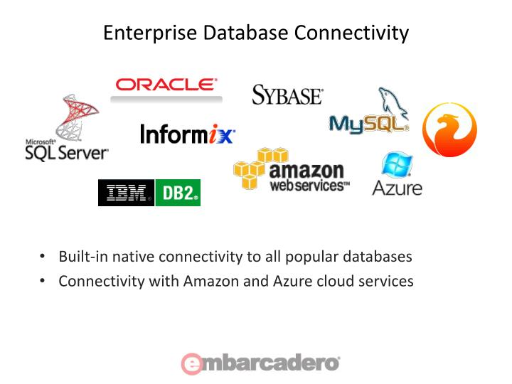 Enterprise Database Connectivity
