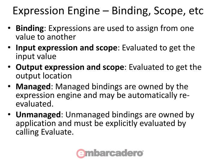 Expression Engine – Binding, Scope, etc