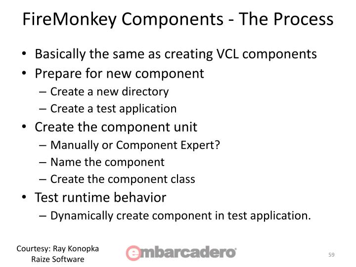 FireMonkey Components - The Process