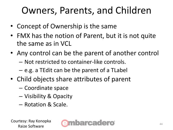 Owners, Parents, and Children
