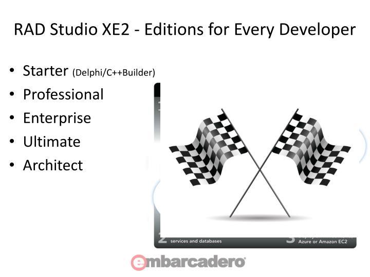 RAD Studio XE2 - Editions for Every Developer