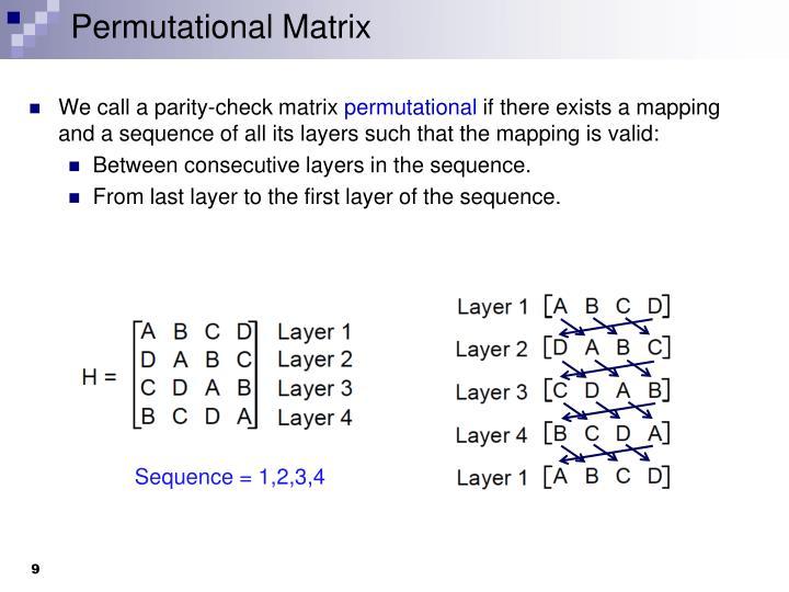 Permutational Matrix