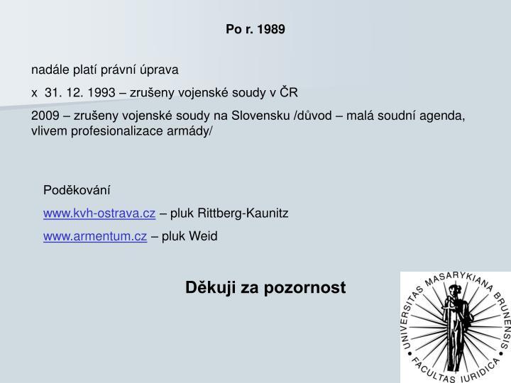 Po r. 1989