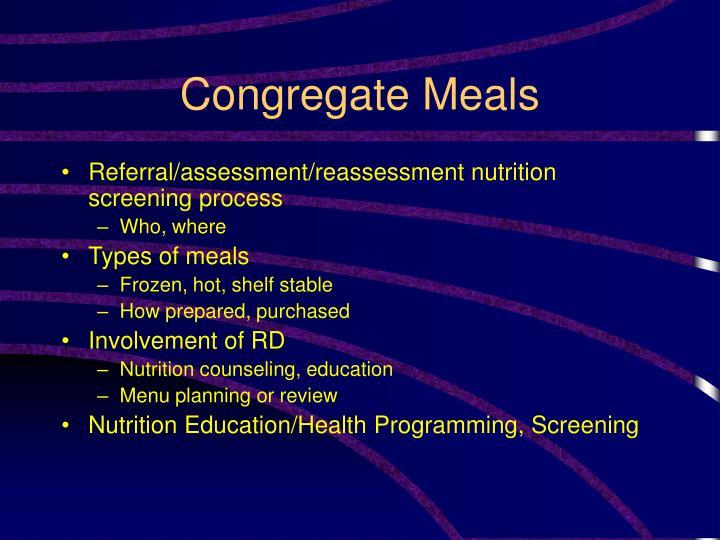 Congregate Meals