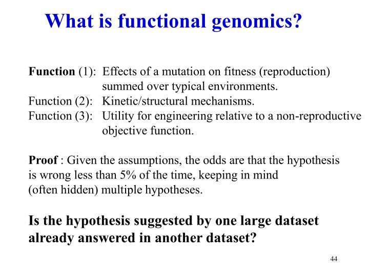 What is functional genomics?