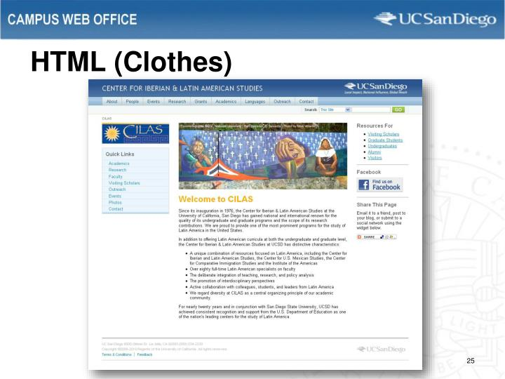 HTML (Clothes)