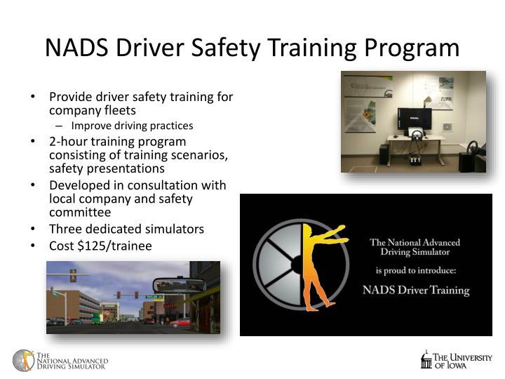 NADS Driver Safety Training Program